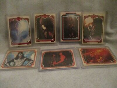 Kiss Cards 1978 Donruss Series 1 Trading Cards AUCOIN PUZZLE BACK -7 CARDS EX