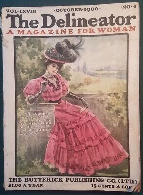 October 1906 The Delineator Magazine for Women w Color Plates Butterick Pub Co