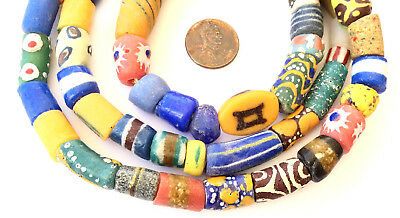 Autum Assortment Handmade Ghana Powder-Glass African Trade beads