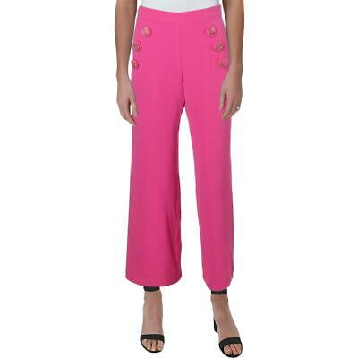 Julie Brown Womens Ahoy Pink High Rise Embroidered Cropped Pants 0 BHFO 4677