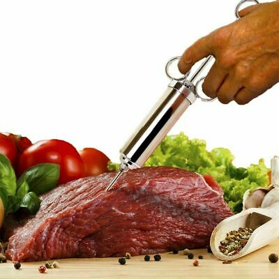 BBQ Marinade Meat Injector Kit with 3 Pro Needles Stainless Steel Food Injection