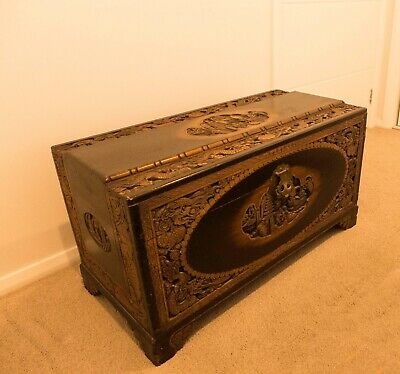 Camphor Wood Chest, good condition.  Low sheen finish.
