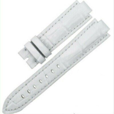 Replacement Watch Strap Band White For LV Louis Vuitton Tambour Series