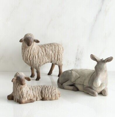 Gentle Animals The Stable For Holy Family Hand Painted Willow Tree Susan Lordi
