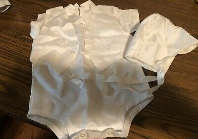 Vintage Baby Boy 3 Piece Baptism / Christening Outfit!   0-3 Months