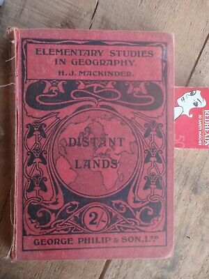 Old Geography  School  Reader book  England,