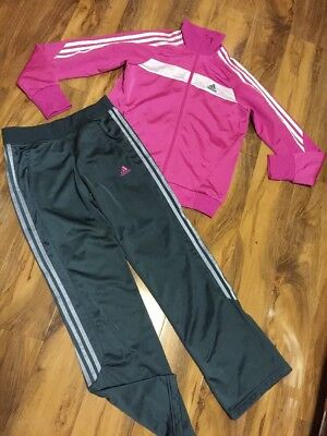 Adidas Girls Tracksuit Age 13-14 Years Old (164)