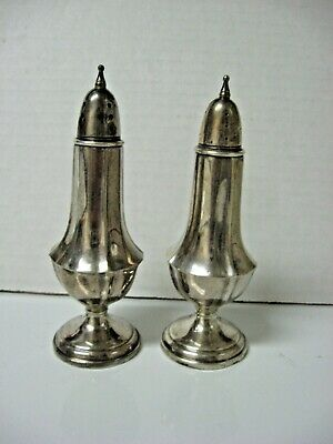 SET 2 STERLING SILVER SHAKERS HGS CO cement filled