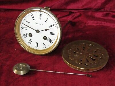 A Nice Maple & Co French 8 Day Striking Clock Movement & Dial