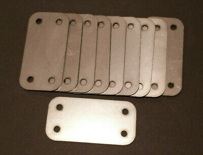 10 - 2x4 16ga inch rectangular flange plate steel mounting cover block off