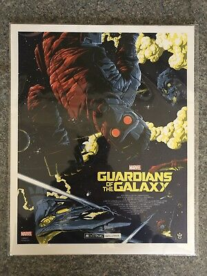 """Marvel Guardians Of The Galaxy movie art print, Geek Fuel Exclusive, 10""""x 8"""" NEW"""