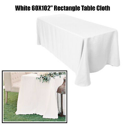 "Blanc Rond Nappe 120/"" 6/"" table 305 cm TABLE CLOTH 220GSM Polyester Filé"