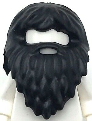 Lego New Dark Brown Minifigure Hair Thick Wavy Beard and Mouth Hole Man Piece