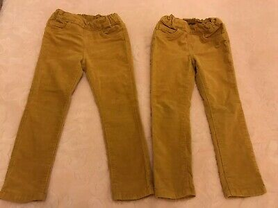 Twins Girls Bundle Corduroy Trousers Yellow  Size 2-3 Years, Excellent Condition