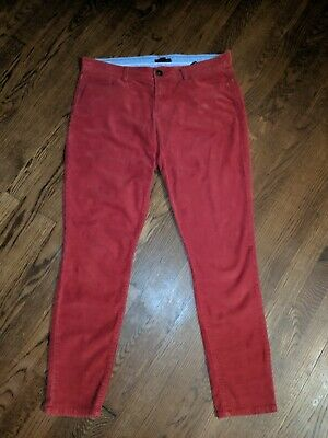 Tommy Hilfiger Women's Corduroy Pants Size 10 Burnt Orange