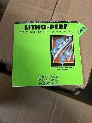 HS Boyd Litho Perf 8 Tooth Paper CS 10 feet 3.1m Roll #602 Bindery Supplies