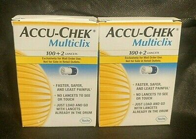 Sealed Accu-Check Multiclix 102 Lancets (2 Boxes)