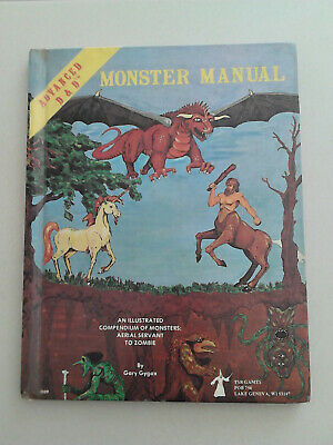 Monster Manual Gygax Vintage 1979  TSR Hardback Advanced Dungeons & Dragons