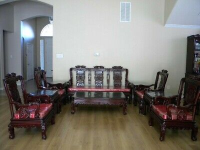 10- pcs  Rosewood Mother of Pearl inlay Imperial Court Living Room set