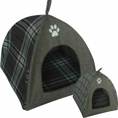 Soft Super Large Grey Cat/Dog Igloo Pet Bed Warm House/Tunnel/Snug/Pod Puppy