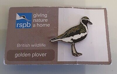 """Brand New Official """"RSPB GOLDEN PLOVER"""" Pin Badge - (FREE POST/SAME DAY DSPCH !)"""