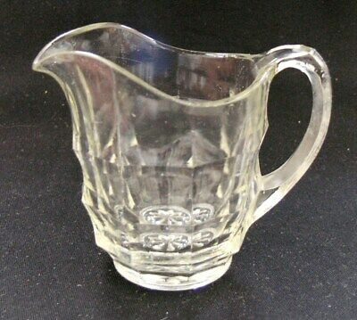 Vtg 1930s-40s Davidson glass Jacobean small 6 fl oz creamer or milk jug Art Deco