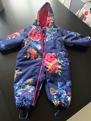 Joules Girls All In One Snow Suit 6 - 9 Months