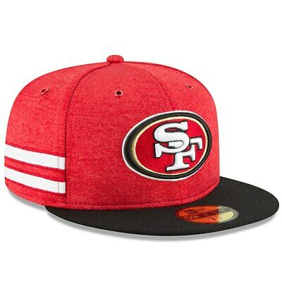 Official NFL 2018 San Francisco 49ers On Field New Era 59FIFTY Fitted Hat