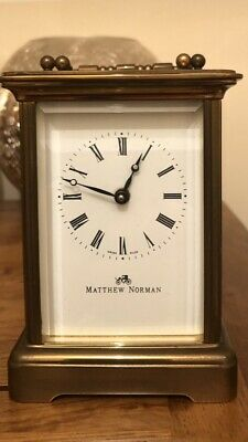 Mathew Norman Vintage 8 Day Swiss Carriage Clock Serviced