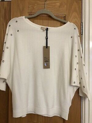Ladies Top Bnwt Off White House Of Fraser Size S On Trend Phase Eight Rrp65.00