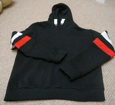 Girls black hoody hoodie jumper sweatshirt 10-11yrs