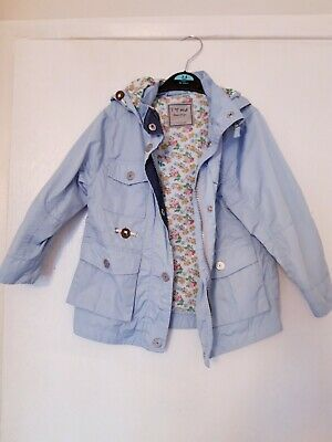 Super Cute Girls NEXT Blue Raincoat 3-4 years light coat jacket hoodlined
