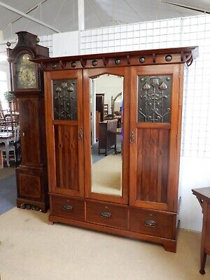 Shapland And Petter Wardrobe And Dressing Table With Sliding Top