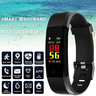Smart Watch Bracelet Heart Rate Blood Pressure Monitor Bluetooth Fitness Tracker