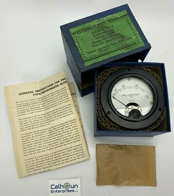 VINTAGE Weston Radio Frequency MILLIAMMETER Model 425 Thermocouple 100 Milliamps