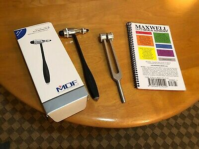Quality MDF Reflex Hammer, 128c Tuning Fork, Maxwell Quick Medical Reference