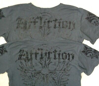 Affliction Black Live Fast Skull Cross Soft Graphic T Shirt Mens M