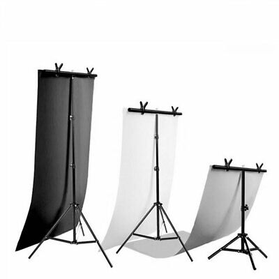 Black/White PVC Background or T-shape Photography Backdrop Support Stand Kit
