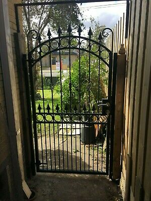 Wrought Iron pedestrian gate Fits opening 890-950mm  Avail now Galv and powdrctd