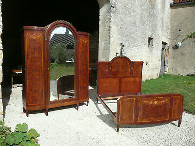 Antique French Armoire Wardrobe and Bed ~ Empire Style. *