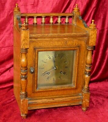 Great Oak Cased 8 Day Bracket Clock
