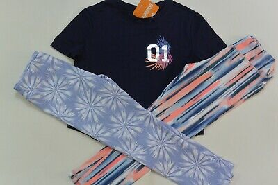 NWT Gymboree 5/6 GYMGO Girls 3-PC Active Wear Navy Top Two Leggings New
