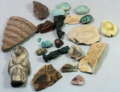 Bits of antiquities, rocks, fragments and amulets - some possibly Egyptian