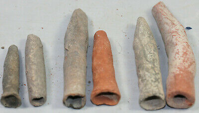 Collection of six small pottery vases - possibly Egyptian