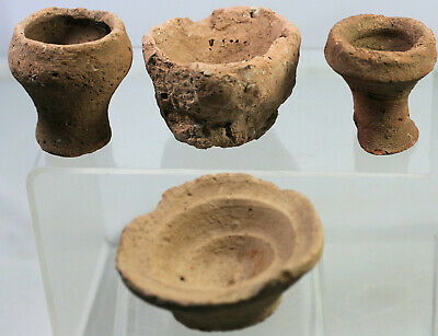 Four pottery vases or bowls - possibly Egyptian