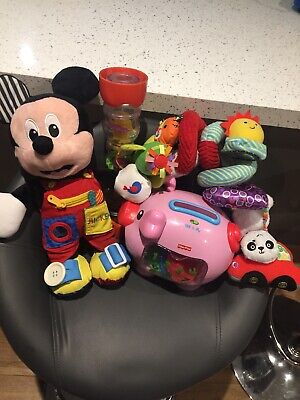 Baby/toddler Toy Bundle Mickey Mouse/ Fisher Price Piggy Bank