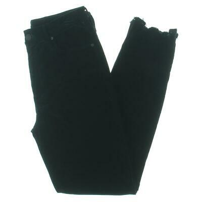 Mother Womens The Looker Black High Rise Frayed Hem Ankle Pants 27 BHFO 0653