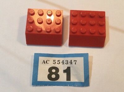 LEGO Red 45 Degree Sloped Bricks Select Size and Quantity