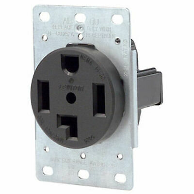 Leviton 278 4-Wire 30-Amp 250V Flush Mount Dryer Grounding Brown Receptacle NEW