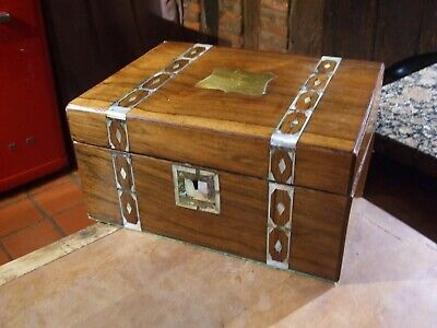 ANTIQUE VICTORIAN ROSEWOOD INLAID WRITING SLOPE with SECRET DRAWERS unusual box